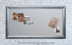 Modern Memo Board INDUSTRIAL MAGNET BOARD Modern Bulletin Board Xl Extra Large 53