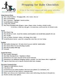 Preparing For Baby Checklist Printable New Baby Baby Baby
