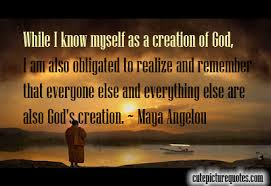 While I know myself as a creation of God | Cute Picture Quotes