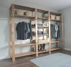 solid diy wood closet shelving