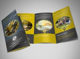 make tri fold brochure design custom wine brochures online mycreativeshop