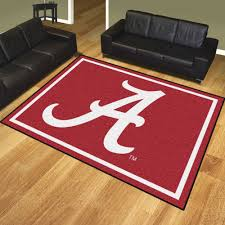 alabama crimson tide nylon plush carpet area rug football rugs of x university rustic dining room cabin western