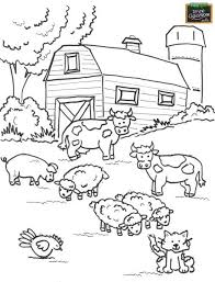 Bichinhos Stencils Farm Coloring Pages Preschool Coloring Pages