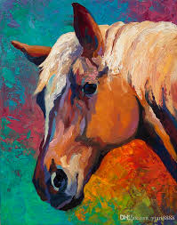2019 horse head artwork unframed modern canvas wall art for home and office decoration oil painting animal painatings frame painting from yjart8888