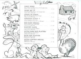 Restaurant Coloring Pages For Restaurants Menu Mcdonalds Page