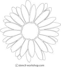 Paper Flower Print Out Big Flower Paper Template Printable Daisy Template Images Of Giant