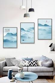 <b>New Chinese abstract</b> ink painting landscape painting living room ...