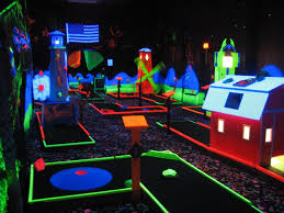 Image result for glow in the dark mini golf