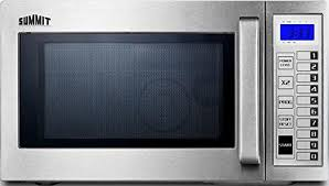 summit commercially approved 9 cu ft capacity countertop microwave with saved cooking settings