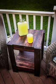 cool outdoor furniture ideas. pallet end table cool outdoor furniture ideas