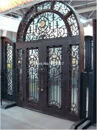 glass wrought iron front doors luxury iron and glass front doors wood glass iron entry