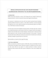 6 Sample Medical Certificate For Sick Leave Sample Templates