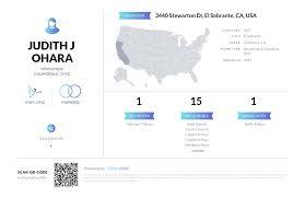 Judith J Ohara, (510) 223-8246, 3440 Stewarton Dr, El Sobrante, CA ...