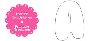 free printable bubble letter a template 610x229