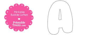 Letter A Template Printable Bubble Letter A Template Printable Treats Com