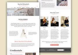 About Us Page Design For Website Website Mobile Design For Wedding Dress Designer On Behance