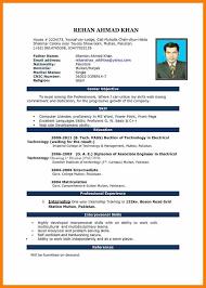 Curriculum Vitae Format Doc India Professional Resumes Sample Online