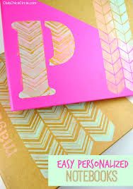 easy personalized notebooks diy backtoschool