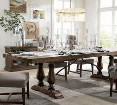 black dining room table pottery barn. dining room: fabulous lorraine extending table hewn oak pottery barn at tables from sophisticated black room