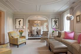dining arch designs living room contemporary with light gray walls fully upholstered dining chairs pink accent
