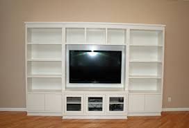 In Wall Entertainment Cabinet Custom Made Modern Painted Entertainment Wall Unit By Two Rivers