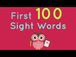 sight word 1st grade first 100 sight words kindergarten and first grade sight words