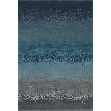 8 x 11 large ombre blue and gray area rug geneva