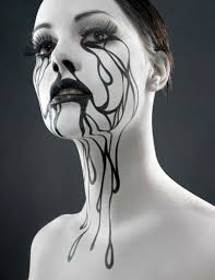 be y yet cly this with makeup inspiration using black and white