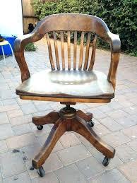 vintage wooden desk chair s old oak swivel desk chair