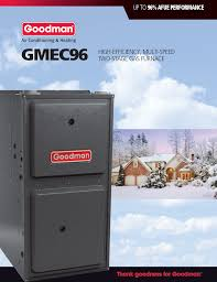 goodman 96 furnace. this furnace is covered by what we believe to be one of the best warranties in indoor home comfort industry. addition covering heat exchanger goodman 96 g