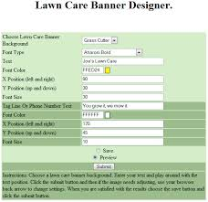 lawncare ad make your own animated lawn care or snow plowing banner ad lawn