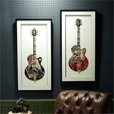 wall art guitar set of 2 guitar paper collage wall art metal wire guitar wall art  on metal wire guitar wall art with wall art guitar born to run wall decor guitar art license plate art