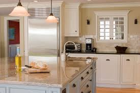 White Kitchen With Granite Counters Furniture Wooden Kitchen With L Shaped Brown Wood Kitchen