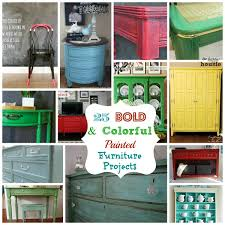 green painted furniture. 25 Bold And Colorful Painted Furniture Projects Green