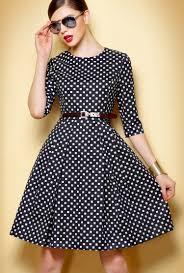 Black White Plaid Half Sleeve Fashion Dress Fashion Pinterest