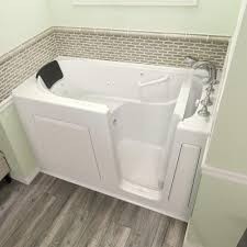 american standard 60 w x 30 d gelcoat dual massage walk in bathtub right hand drain at menards