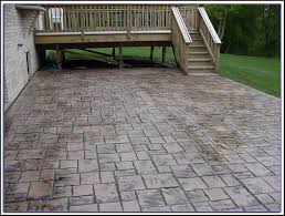 stamped concrete patios pros and cons patio designs