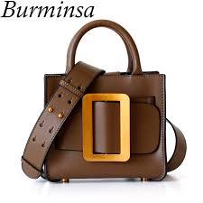 Burminsa Mini Genuine <b>Leather Women Handbags Luxury</b> Wide ...