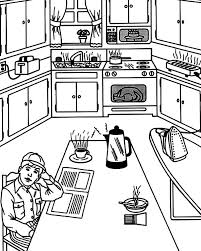 Small Picture Waiting for Breakfast in the Kitchen Coloring Pages Waiting for