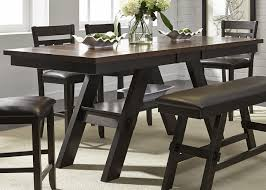 lawson 66 78 counter height pedestal dining table in light dark espresso