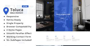 Toluca Single Property Real Estate Html Template Themesed Free