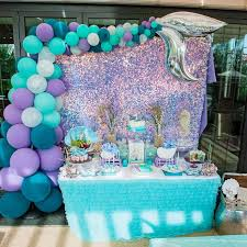 Pin by Ada Cortés on Graduation party ideas | Mermaid birthday party  decorations, Mermaid theme party, Ariel birthday party
