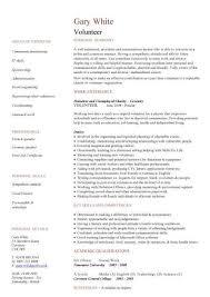 Volunteer Work On Resume Volunteer Work Resume Samples Visualcv