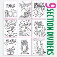 Printable Recipe Binder Coloring Pages For