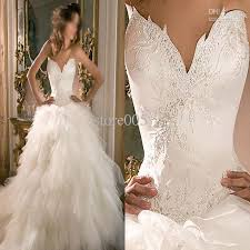 hot sell unique design ball gown bridal wedding dresses lace
