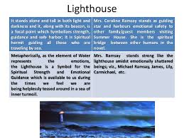 symbolism in virginia woolf s to the lighthouse  lighthouse
