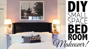 Small Bedroom Makeover Diy Small Space Bedroom Makeover Home Decor Youtube
