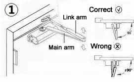 door closer installation. why isn\u0027t the door closing properly after installing surface mounted closer? closer installation