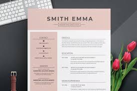 Modern Professional Resume Template Resume Templates Creative Market