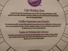 Wilton Cake Chart Cake Dividing Chart From Wilton 2554 For Sale Online Ebay